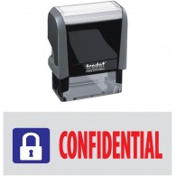 Confidential Trodat Printy 4912 Self-Inking Two Color Stock Message Stamp