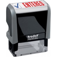 Entered Trodat Printy 4912 Self-Inking Two Color Stock Message Stamp