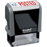 Posted Trodat Printy 4912 Self-Inking Two Color Stock Message Stamp