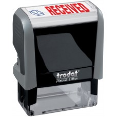 Received Trodat Printy 4912 Self-Inking Two Color Stock Message Stamp