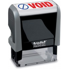 Void Trodat Printy 4912 Self-Inking Two Color Stock Message Stamp