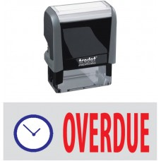 Overdue & Pic. Trodat Printy 4912 Self-Inking Two Color Stock Message Stamp