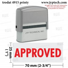 Approved Extra Large 4915 Self Inking Rubber Stamp (Red Ink)