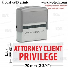 Attorney Client Privilege Extra Large 4915 Self Inking Rubber Stamp (Red Ink)