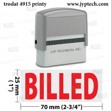 Billed Extra Large 4915 Self Inking Rubber Stamp (Red Ink)