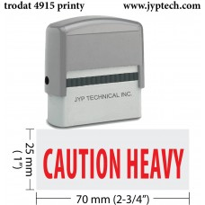 Caution Heavy Extra Large 4915 Self Inking Rubber Stamp (Red Ink)