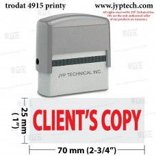 Client's Copy Extra Large 4915 Self Inking Rubber Stamp (Red Ink)