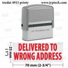 Delivered To Wrong Address Extra Large 4915 Self Inking Rubber Stamp (Red Ink)