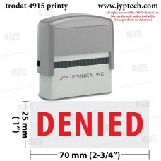Denied Extra Large 4915 Self Inking Rubber Stamp (Red Ink)