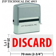 Discard - Extra Large JYP 4915 Self Inking Rubber Stamp (Red Ink)
