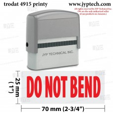 Do Not Bend Extra Large 4915 Self Inking Rubber Stamp (Red Ink)