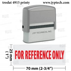 For Reference Only Extra Large 4915 Self Inking Rubber Stamp (Red Ink)