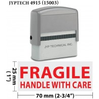 Fragile Handle With Care! - Extra Large Trodat 4915 Self Inking Rubber Stamp (Red Ink)