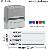 General Ledger Ref Entry Accounting Stamp   Self-Inking Accounting Rubber Stamp 4915-G01
