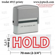 Hold Extra Large 4915 Self Inking Rubber Stamp (Red Ink)