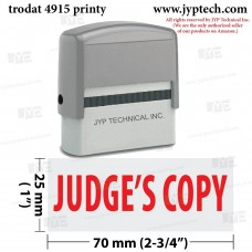 Judge's Copy Extra Large 4915 Self Inking Rubber Stamp (Red Ink)