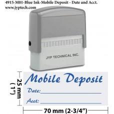 Mobile Deposit - Date and Acct. - Extra Large Self Inking Rubber Stamp JYP 4915-M01