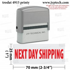 Next Day Shipping Extra Large 4915 Self Inking Rubber Stamp (Red Ink)