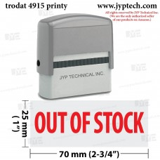 Out Of Stock Extra Large 4915 Self Inking Rubber Stamp (Red Ink)