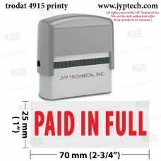 Paid In Full Extra Large 4915 Self Inking Rubber Stamp (Red Ink)