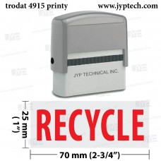 Recycle Extra Large 4915 Self Inking Rubber Stamp (Red Ink)