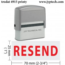 Resend  Extra Large 4915 Self Inking Rubber Stamp (Red Ink)