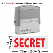 Secret Extra Large 4915 Self Inking Rubber Stamp (Red Ink)