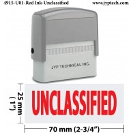 Unclassified - Extra Large JYP 4915 Self Inking Rubber Stamp