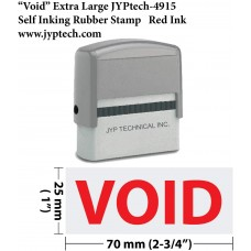Void Extra Large 4915 Self Inking Rubber Stamp (Red Ink)