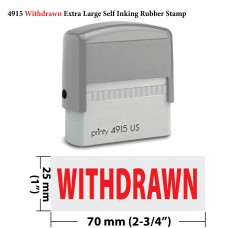 Withdrawn Extra Large JYP 4915 Self Inking Rubber Stamp(Red Ink)