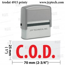 C.O.D.  Extra Large 4915 Self Inking Rubber Stamp (Red Ink)