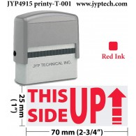 This Side up with Arrow 4915 (Red Ink)