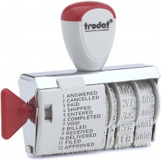 Trodat Classic Line1117 Dial a Phrase Rubber Stamp Dater