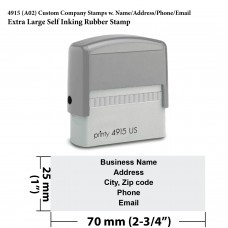 4915 Custom Company Stamps w.Name/Address/Phone/Email