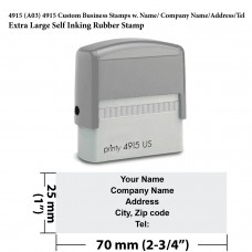 4915 Custom Business Stamps w. Name/ Company Name/Address/Tel