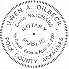 "1-5/8"" Custom Notary Embossing stamps"