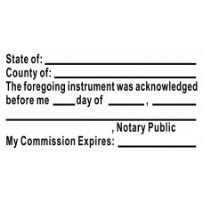 3255-NC01 Notary  Acknowledgement stamp