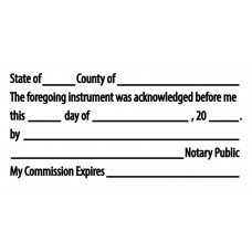 3255-NC02 Notary Acknowledgement Stamp