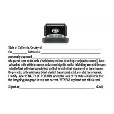 3255-NC03 Notary California Acknowledgement stamp
