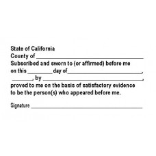 3255-NC04 Notary California Acknowledgement stamp