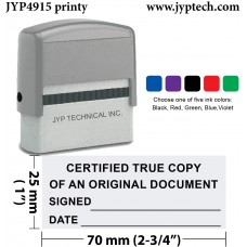 Certified True Copy - Extra Large Trodat 4915 NS01 Self Inking Rubber Stamp