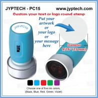 PC15 Custom Logo or your message Round Stamp