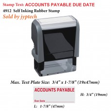 Accounts Payable Due Date 4912 Self Inking Rubber Stamp