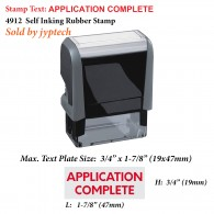 Application Complete 4912 Self Inking Rubber Stamp
