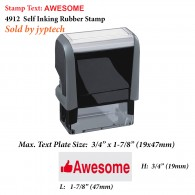 Awesome Teacher 4912 Self Inking Rubber Stamp