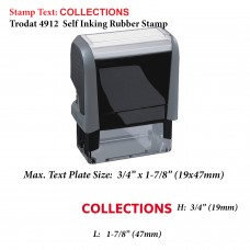 Collections 4912 Self Inking Rubber Stamp