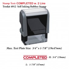 Completed Office 4912 Self Inking Office Rubber Stamp