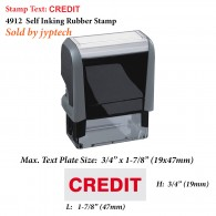 Credit 4912 Self Inking Rubber Stamp