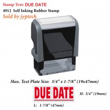Due Date 4912 Self Inking Rubber Stamp
