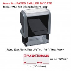 FAXED EMAILED by Date 4912 Self Inking Rubber Stamp